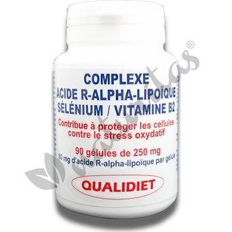 b7f9e754c934 Complexe antioxydant à l acide R-Alpha-Lipoïque Pot de 90 capsules ...